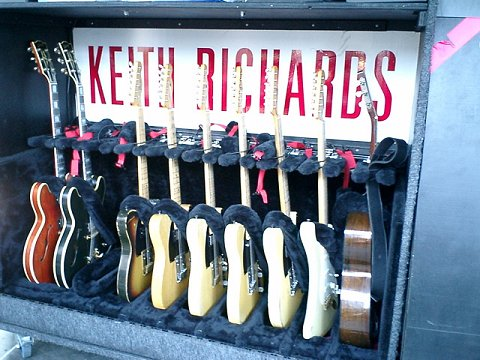 Keef's guitar galore